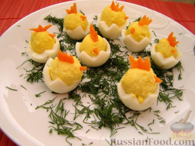 Блюдо из перепелиных яиц для детей фото