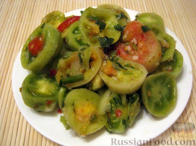 Маринованные зеленые помидоры по корейски