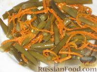 Фото к рецепту: Салат из спаржевой фасоли и корейской моркови