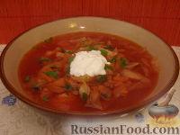Фото к рецепту: Постный красный борщ с фасолью