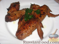 Фото к рецепту: Куриные крылышки Барбекю