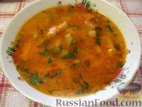 Фото к рецепту: Суп рыбный с маринованными кабачками
