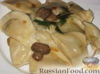 Вареники с картофелем и вешенками - рецепт пошаговый с фото