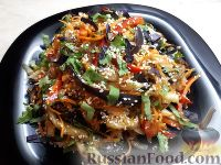 Фото к рецепту: Салат из баклажанов по-корейски