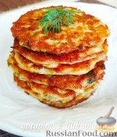 Фото к рецепту: Кабачковые оладьи с сыром