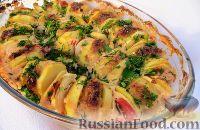 Фото к рецепту: Котлеты с картошкой в духовке