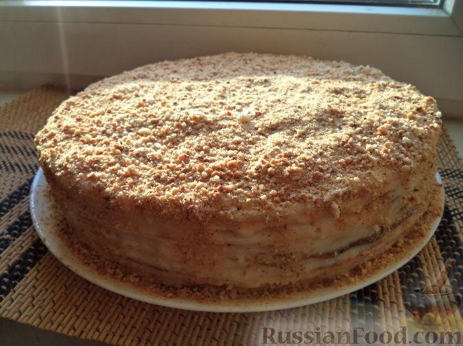 торт наполеон с творогом рецепт
