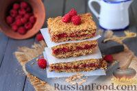Фото к рецепту: Овсяное печенье с малиной