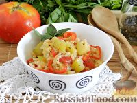Фото к рецепту: Кабачки, тушенные с рисом