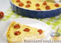 Фото к рецепту: Киш с творогом, луком и помидорами