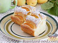 Фото к рецепту: Простой пирог с абрикосами