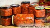 Фото к рецепту: Закуска из баклажанов в томатном соусе (на зиму)