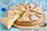 Фото к рецепту: Пирог с персиками, на минералке