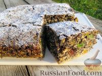 Фото к рецепту: Маковый пирог с яблоками и цукатами (без муки)