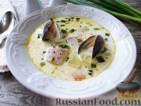 Фото к рецепту: Норвежский рыбный суп с мидиями и сливками