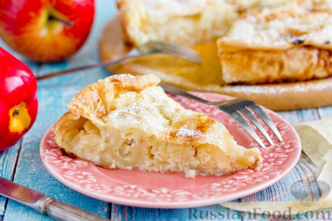 пирог из лаваша с яблоками в духовке