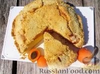 Фото к рецепту: Пирог с абрикосами и штрейзелем