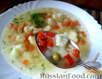 Фото к рецепту: Овощной суп «Стройность»
