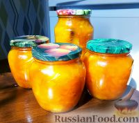 Фото к рецепту: Тыквенное варенье с апельсином и курагой