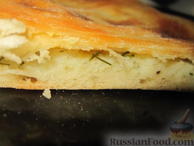 Пирог с картошкой и сыром в духовке рецепт пошагово