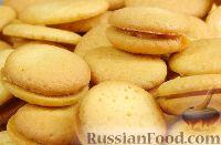 Фото к рецепту: Бисквитное печенье со сгущёнкой