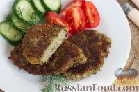 Фото к рецепту: Котлеты из чечевицы и баклажанов