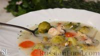 Фото к рецепту: Сливочный суп с горбушей