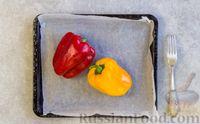 Фото приготовления рецепта: Рулетики из болгарского перца с сырной начинкой - шаг №2