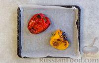 Фото приготовления рецепта: Рулетики из болгарского перца с сырной начинкой - шаг №3