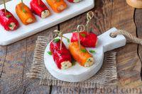Фото приготовления рецепта: Рулетики из болгарского перца с сырной начинкой - шаг №12