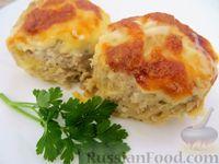 Фото к рецепту: Картофельно-мясные котлеты в духовке