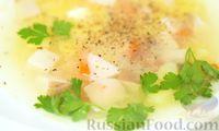 Фото приготовления рецепта: Ароматный суп из белых грибов - шаг №9