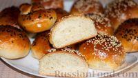 Фото к рецепту: Булочки к завтраку (воздушное дрожжевое тесто на кефире)