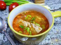 Фото к рецепту: Рыбный суп с зелёным горошком