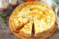 Фото к рецепту: Киш с тыквой и сыром