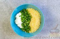 Фото приготовления рецепта: Рулетики из болгарского перца с сырной начинкой - шаг №7