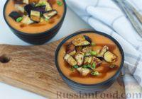 Фото к рецепту: Суп-пюре из картофеля и помидоров, с баклажанами