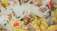 Фото приготовления рецепта: Оджахури (жареное мясо с картофелем) - шаг №8