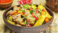 Фото приготовления рецепта: Оджахури (жареное мясо с картофелем) - шаг №11