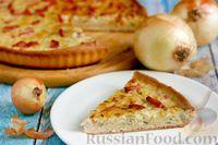 Фото к рецепту: Немецкий луковый пирог с копченым мясом