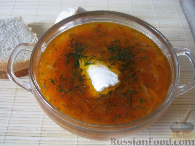 Рецепт Борщ вегетарианский с грибами