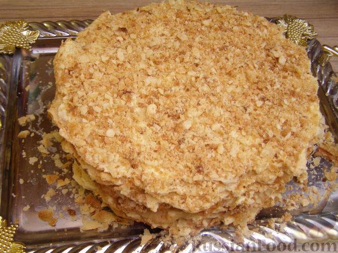 настоящий торт слоеный наполеон рецепт +