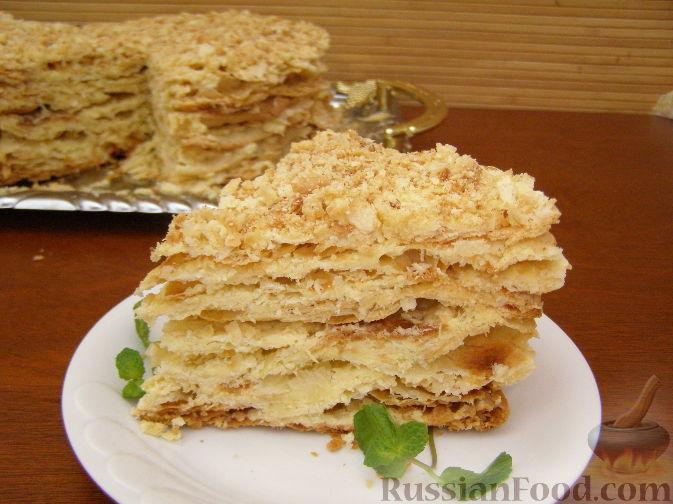 рецепт слоеного наполеона торт