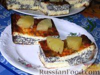 Фото к рецепту: Творожник с маком и кокосом