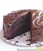 Шоколадный торт с шоколадом