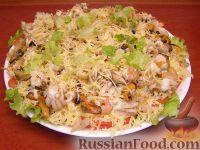 салаты с морским коктейлем рецепты с фото пошагово