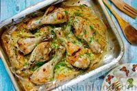 Фото к рецепту: Курица, запечённая с капустой (в пакете)