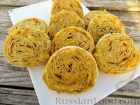Фото к рецепту: Рулетики из лаваша с картофелем и сыром (в духовке)