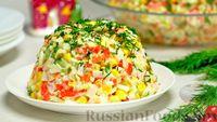 Фото к рецепту: Крабовый салат с морковью и огурцом