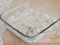 Фото приготовления рецепта: Тефтели, запечённые под грибным соусом - шаг №9
